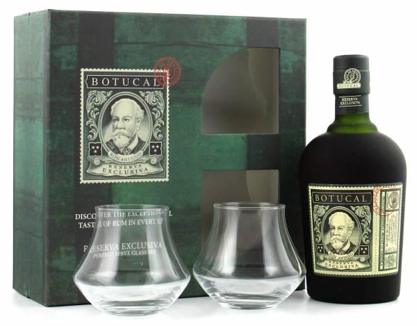 Botucal Reserva Exclusiva Rum Geschenkset mit 2 Gläsern 0,7l
