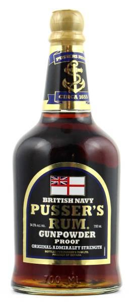Pusser's Rum Gunpowder Proof British Navy 0,7l