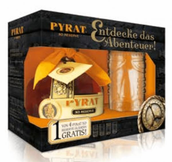 Pyrat XO Reserve - Anguilla Rum Glas Onpack+ GP
